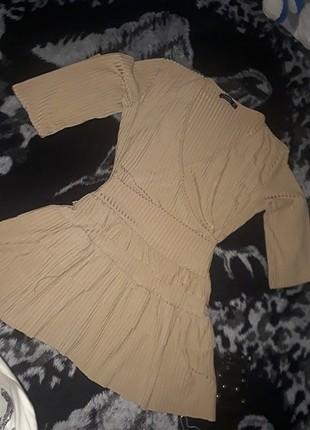 Firfirli mini elbise