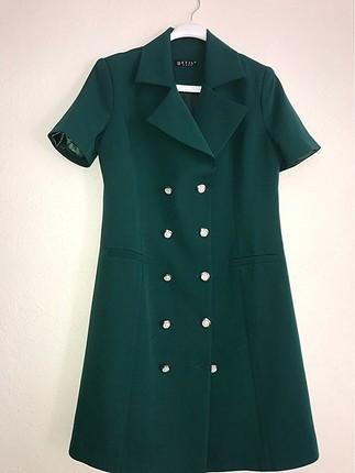 Yeşil morhipo elbise