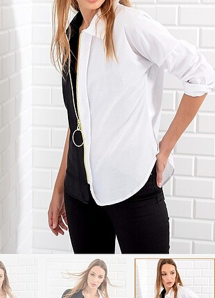 Siyah Beyaz gömlek