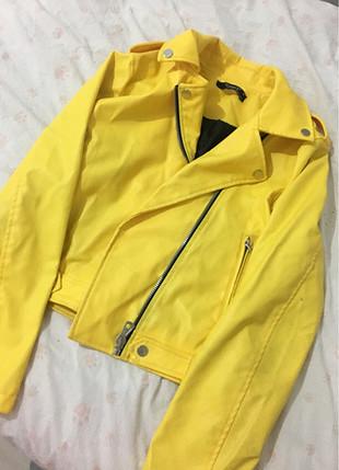 Sarı deri ceket