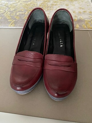 Beta bordo ayakkabı