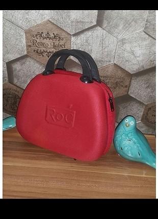 Roc Marka Seyahat Boy Kozmetik Makyaj Çantası Valizi Bavulu. İki