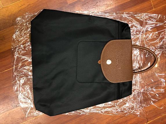 Longchamp siyah taba sırt çantası