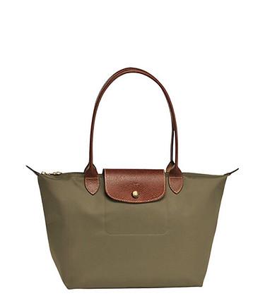 Longchamp yeşil haki kol çantası