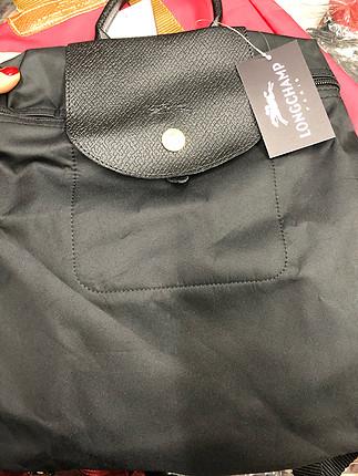 Siyaha siyah longchamp sırt çantası