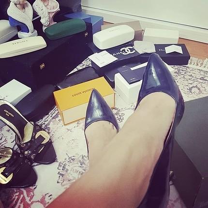 Lacivert inci ayakkabi