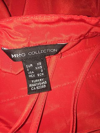 xs Beden kırmızı Renk Mango mini elbise