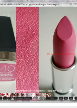 Maybelline Color Sensational Mat Ruj 940 Rose Rush Maybelline Makyaj