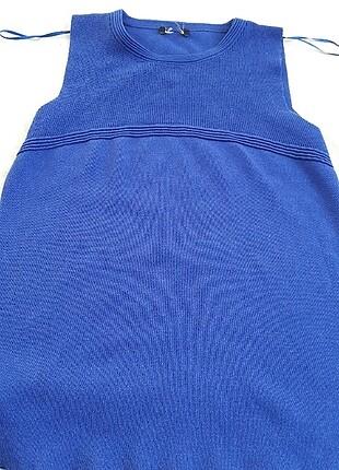 Saks mavisi triko bluz