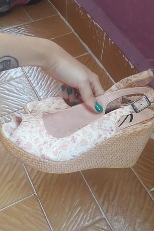 Diğer dolgu topuk çiçekli ayakkabı