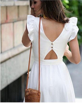 Zara ekru rengi elbise