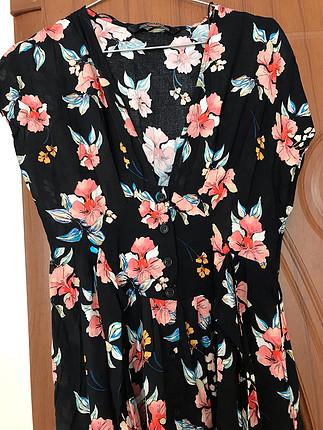 Zara cicekli elbise
