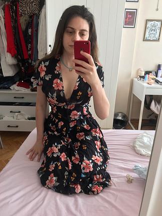 xs Beden çeşitli Renk Zara cicekli elbise
