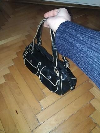 mango siyah deri çanta