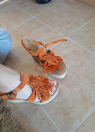 36 Beden Dolgu topuk ayakkabı