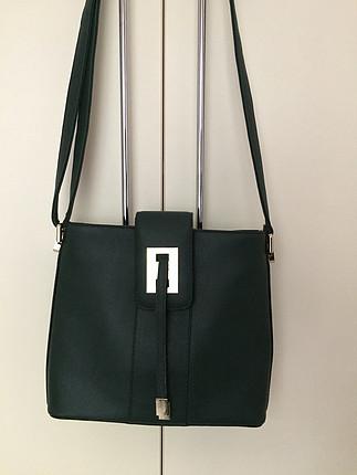 Zara Koyu yeşil çanta
