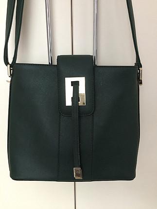 diğer Beden Koyu yeşil çanta