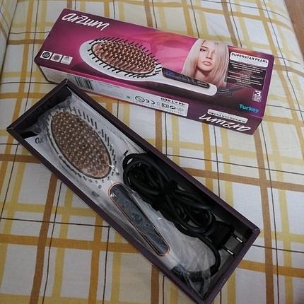 Saç düzleştirici fırça orginal kutusu ile hiç kullanılmadı hediy