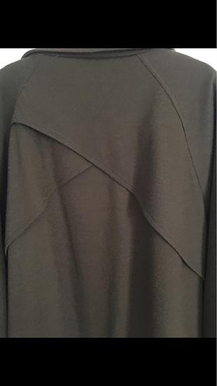 Haki renk bol dökümlü ceket tarzı