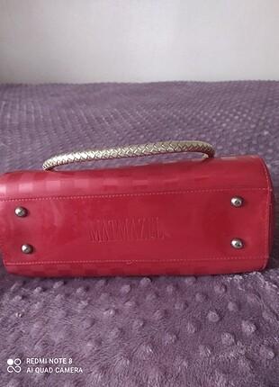 Matmazel kırmızı çanta