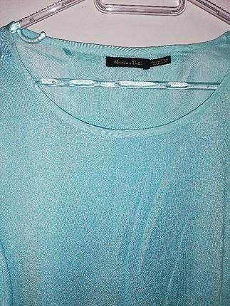 Massimo Dutti bebek mavisi ince triko