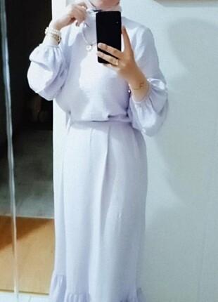 Lila tesettür elbise