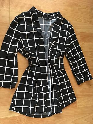 Dalgıç kumaş kapri kol ceket