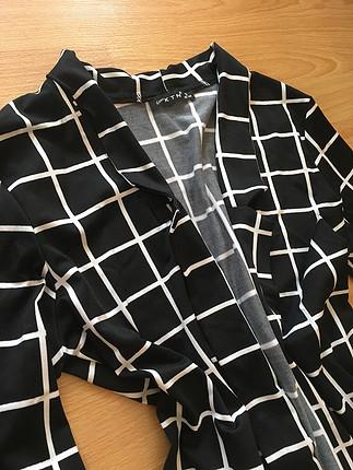 s Beden siyah Renk Dalgıç kumaş kapri kol ceket