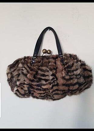 Nordstorm tavşan kürkü çanta