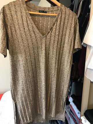Zara standart beden tunik likralı kumaş