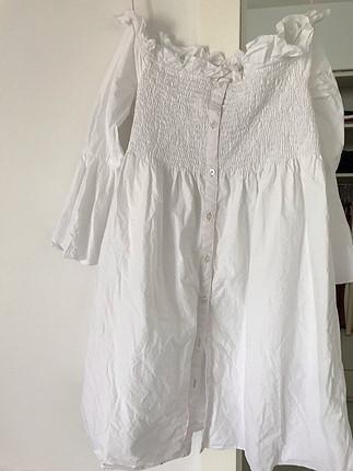 Mango beyaz kısa elbise
