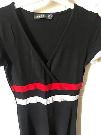 Siyah kısa elbise penye elbise