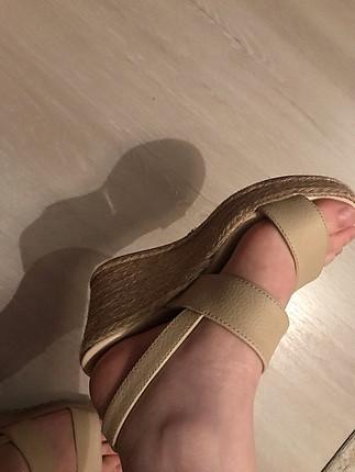 36 Beden bej Renk Bej topuklu sandalet