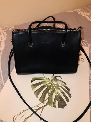 Deri siyah çanta