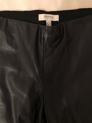 İpekyol deri pantolon - antrasit rengi
