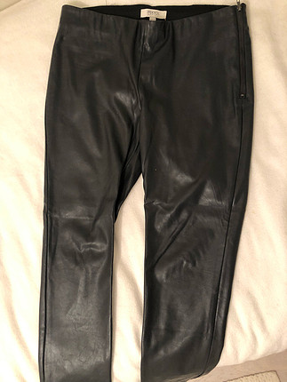 xl Beden İpekyol deri pantolon - antrasit rengi