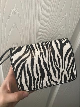 Beden Mango küçük zebra desenli çanta