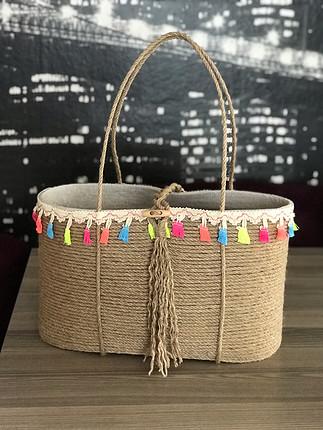 Hasır tasarım çanta