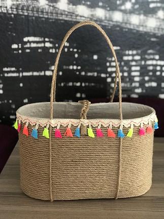Zara Hasır tasarım çanta