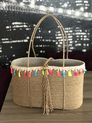 xl Beden Hasır tasarım çanta