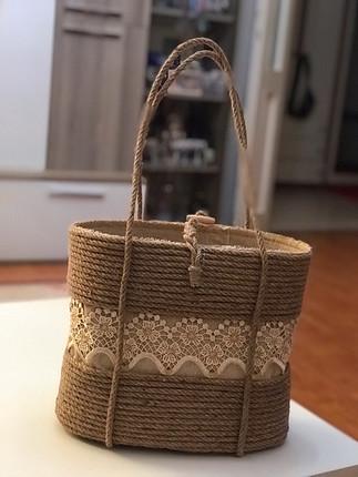 Tasarım hasır çanta