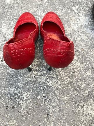 Elle Elle kırmızı deri ayakkabı
