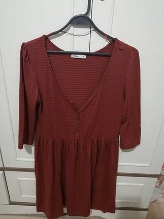 çizgili günlük elbise