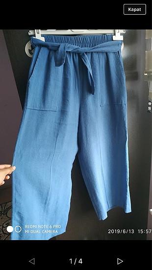 Mavi bol pantalon