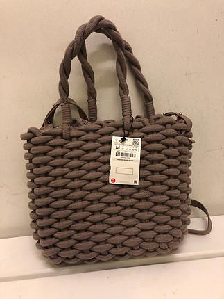 6a2331ba4f8b4 Gardrops · Kadın · çanta · kol çantası · Zara. Zara marka örgü çanta