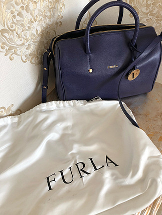 Furla speedy crossbody navy bag