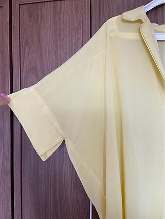 diğer Beden sarı Renk Az kullanılmış uzun bluz