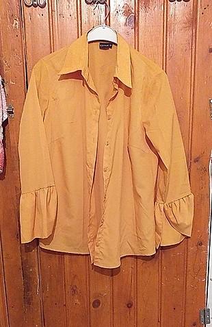 hardal sarısı ispanyol kol gömlek