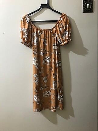 Çiçek desenli mini kısa elbise