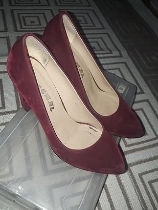 Pelinin Ayakkabıları bordo topuklu ayakabj